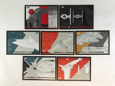 2017 Topps Star Wars Journey To The Last Jedi Blueprints 7 Card Set > X-Wing