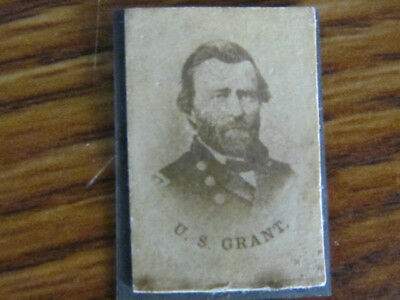possible Civil War General Ulysses Grant political pin with albumen photograph
