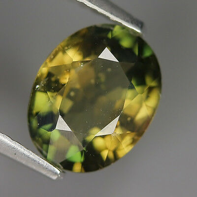 1.87 Ct Natural Unheated Greenish Yellow KORNERUPINE Oval Gem @ See Vide!