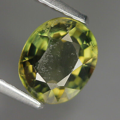 1.30 Ct Natural Unheated Greenish Yellow KORNERUPINE Oval Gem @ See Vide!
