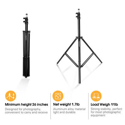 "CRAPHY Photography Light Stand 79""/6.6 Feet/200CM with 1/4"" Screw Interface"