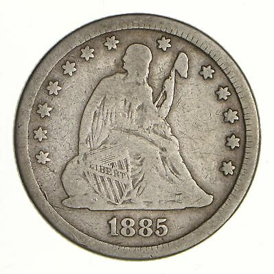 1885 Seated Liberty Silver Quarter - Circulated *6981