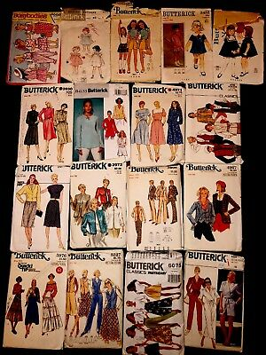 LOT OF 70+ VINTAGE 1960's-90's Sewing Patterns Plus Doll And Victoria Pillow