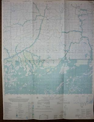 6026 iv - MAP - US NAVY SEAL CANAL OPS - CAI NUOC - CUA LONG RIVER- VIETNAM WAR