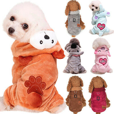 Winter Coat Hoodies Apparel Clothes Warm Jumpsuit Dogs Jacket Puppy Adidog Pet