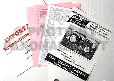 Ford 8N Tractor 8 Cylinder Engine Funk Conversion Instructions 1948-1952