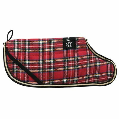 Bunty Reversible Tartan Dog Coat Outdoor Warm Fleece Jacket Reflective Raincoat