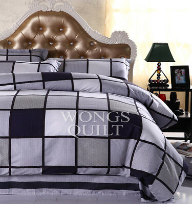 Cotton Quilt Covers Queen Size Duvet/Quilt/Doona Covers Set Bedding Pillow Cases