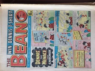Beano Comic No 1908 Febuary 10th 1979, Vintage UK Dennis the Menace box l