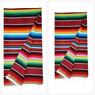 Mexican Blankets Colorful Serape Throws Blankets Assorted Large Authentic NEW