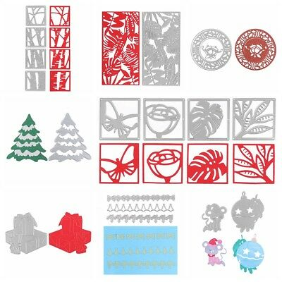 8 Christmas Flower Animal Dies DIY Scrapbooking Paper Cards Craft Embossing 2018