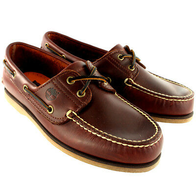 Mens Timberland Classic 2 Eye Heritage Leather Deck Shoes Boat Shoes UK 7-12