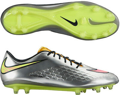 sports shoes cd282 f25e7 Nike Hypervenom Phatal Firm Ground Mens Football Boots - Silver