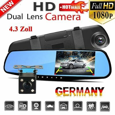 1080P FHD Auto Kamera Dashcam KFZ Video Camera Recorder Überwachung G-Sensor DHL