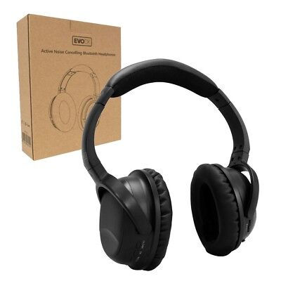 EvoDX Wireless Bluetooth 4.2 Headphones Headset with Mic ACTIVE Noise Cancelling