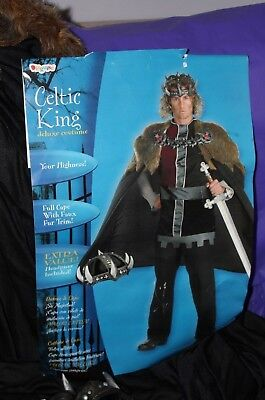 Disguise Celtic King Deluxe Halloween Costume Cosplay Adult 42-46