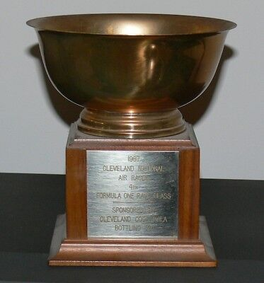 Vintage 1967 Cleveland National Air Race Trophy, Sponsored by Coca Cola