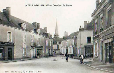 53 Cpa Animee Debut 1900- Meslay Du Maine -Carrefour Du Centre