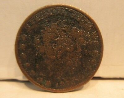 1837 Hard Time Token Not One Cent For Tribute Millions For Defence