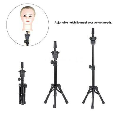 New Adjustable Hairdressing Tripod Hair Training Mannequin Holder Wig Stand M0E7
