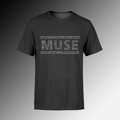 Camiseta - MUSE - Songs Logo  / T-shirt - Muse Band - 100% Cotton