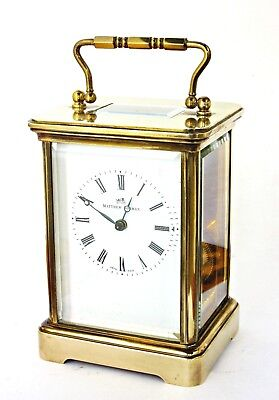 Large Matthew Norman Boxed Striking Carriage Clock, Swiss, 11 Jewels, Serviced