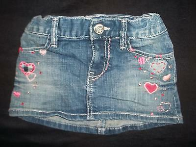 Baby Gap Girls 18-24M Stretch Denim Valentines Hearts Jean Skirt 18 24 Months