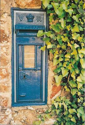 Blue Victorian Wall Post Box, Guernsey- Unposted Postcard