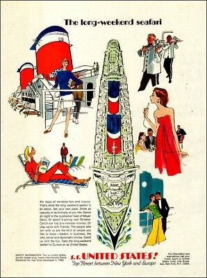 1955  travel AD S.S. UNITED STATES, United States Lines New York  Europe 092517