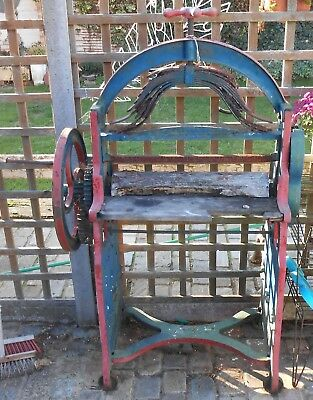 Antique Cast Iron Arched Mangle For Restoration