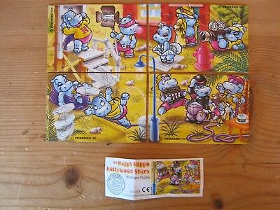 1 Ü Ei Puzzle Die Happy Hippo  Hollywood Stars aus 1997  mit Beipackzettel