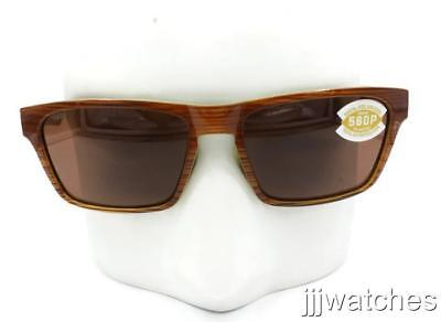 0e5fa07611 New Costa Del Mar Hinano Striped Brown Polarized Sunglasses HNO 108 OCP  169