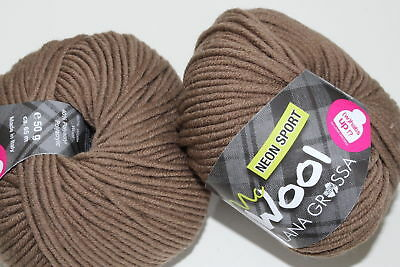 Wolle Kreativ! Lana Grossa - Mc Wool Neon Sport - Fb. 122 umbra 500 g