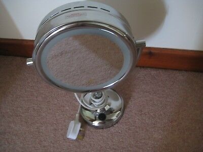 Boots No 7 Mains Powered Lluminated Chrome Make-Up Mirror 14 Ins Double Sided