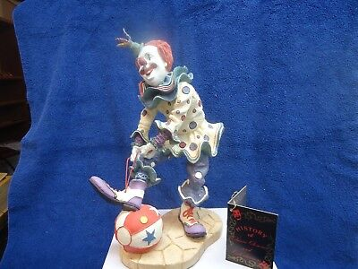 "Duncan Royale - White Face, History of Clowns, with tag. 12"" mint"
