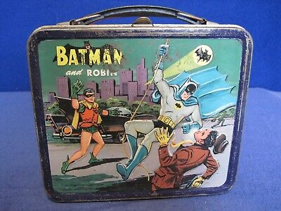Vintage 1966 Batman and Robin Metal Lunchbox National Periodical