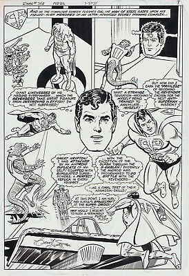 ORIGINAL ART Page, Superman #368 p.6/7, Curt Swan, 1983, DC, SUPERMAN IN ACTION!