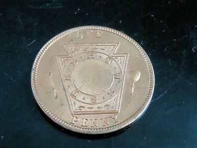 MASONIC ONE PENNY, 1893 May 3rd Waterville Maine CHAPTER NO. 52, R.A.M.