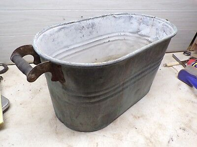 Old Copper Laundry Boiler Wash Tub  for Flower Pot Garden Planter