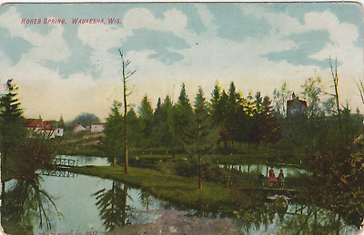 Horse Springs Waukesha Wisconsin ~ Posted 1908