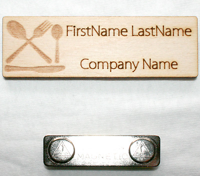 1X3 Employee Personalized Name Tag Badge Magnet Staff Identification Engraved