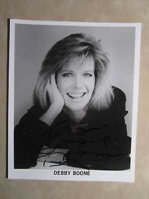 8x10 photo hand signed & inscribed by singer DEBBIE BOONE