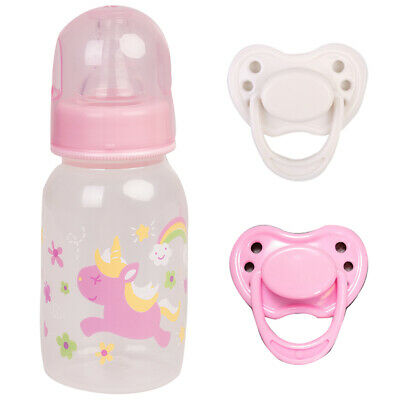 Dummy With Intelnal Magnet Pacifier Feeding Bottle For Reborn Baby Doll Supplies