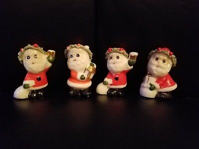 Vintage Christmas Santas Set Of 4