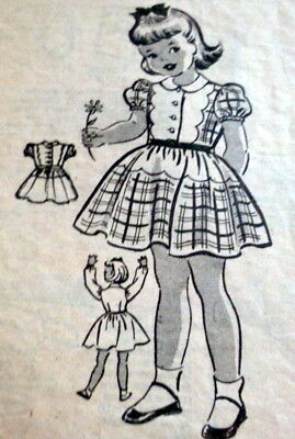 LOVELY VTG 1940s GIRLS DRESS MARIAN MARTIN Sewing Pattern 6