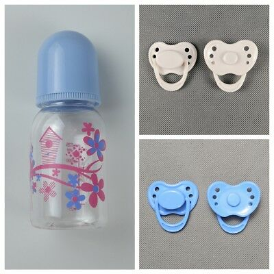 Magnetic Dummy Pacifier Doll Bottle For Reborn Dolls Baby Boy Doll Accessories