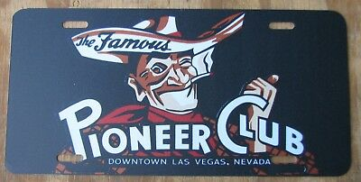 LAS VEGAS NEVADA / PIONEER CLUB souvenir license plate 2014