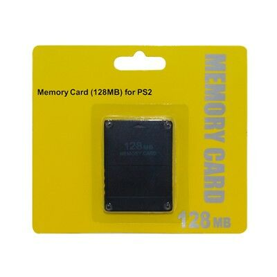 For All Playstation 2 PS2 128MB Memory Card Save Game Data Stick Module UK NEW