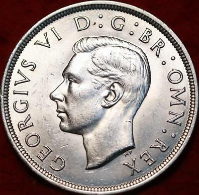 Uncirculated 1937 Great Britain Crown Silver Foreign Coin