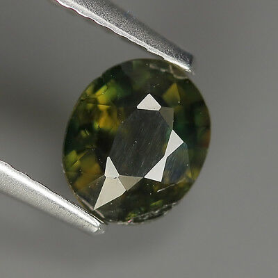 1.00 Ct Natural Unheated Greenish Yellow KORNERUPINE Oval Gem @ See Vide!